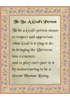 To Be a Person of God
